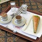 baklava and turk kahve
