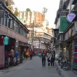 The crowded Mall Road of Mussoorie