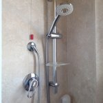 A good shower and bathroom with good water drainage