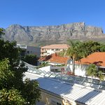 A wonderful view from the terrace upstairs to the table mountain