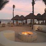 Beautiful beach-side firepit.