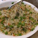 veg butter chilly garlic friend rice. Achcha hai