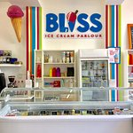 Inside Bliss Ice Cream Parlour