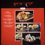 iPad menu has pictures and descriptions (Sushi options depicted here)