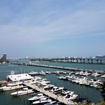 View of Port of Miami from pool area