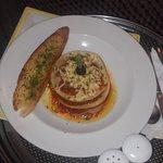 Hotel's veg lasagna