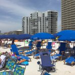 Pelican Beach Resort...Absolutely ridiculous umbrella service. 4-5 rows deep, set up at daylight