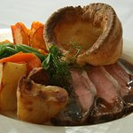 Sunday roast with home made yorkshire pudding