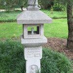 Sculpture in pagoda garden
