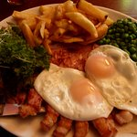 Very tasty gammon, egg & chips