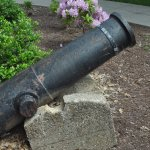 Cannons outside the front steps