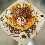 Nutella Waffle served with real Nutella Gelato at Dottie's Gelato