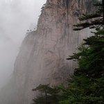Granite peaks in the fog