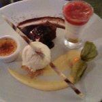 Trio of desserts :D cant wait !