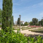 Gardens on the Montjuic Hill in Barcelona