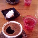 Lovely Turkish coffee to end our meal.