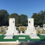 the resting place of Hank and Audrey Williams. Oakwood Cemetery Annex, Montgomery, AL