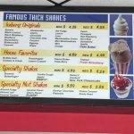 Shake menu