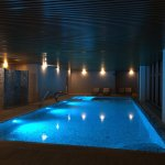 New Indoor heated swimming pool with jacuzzi