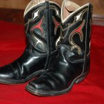 Hank Williams, Jr's first pair of cowboy boots