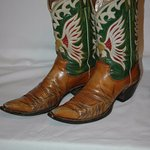 One of many boots belonging to Hank Williams