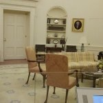 Replica of the Oval Office during Gerald Ford's presidency.