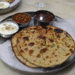 we shared this plate of amrisari paratha