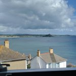 View of St. Michael's Mount from bathroom.