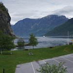 A view of the fjord from the balcony of the room
