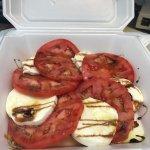 The best tomato and mozzarella salad!