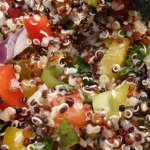A jewelled and sprouted salad - it tasted great too.