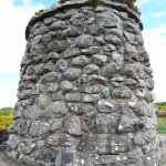The memorial cairn in the middle of the battlefield