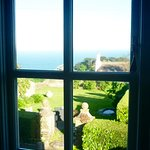View from our room over the garden to the sea
