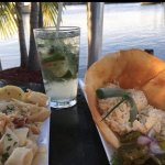 Mojitos, fish dip and calamari at Black Point