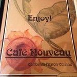 Menu cover for Cafe Nouveau