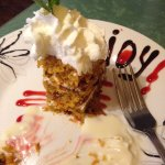 What's left of the delicious carrot cake!