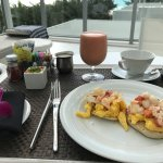 My scrambled eggs benedict with lobster