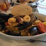 Saffron seafood bowl
