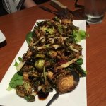 The fried brussel sprouts are delicious. Almost more like a salad than an appetizer.