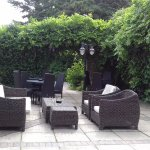 Wonderful outside seating areas