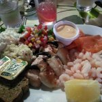 Seafood platter is served cold. Know that. Remember that.