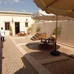 The roof terrace and cafe with panoramic views of the medina.