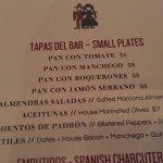 Patria - the TAPAS menu