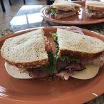 Ham, turkey and roast beef club