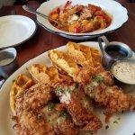 Shrimp and grits and chicken and waffles are superb!!!