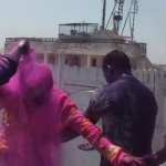 Holi on the rooftop