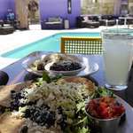 Dine Poolside with our tostada