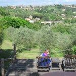 Pool deck overlooking Siena