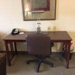 Large desk with lamp