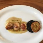 Scallops with black pudding and apple
